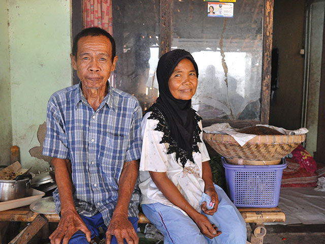 Mrs. Suarti and husband, market vendor, KOMIDA client, Indonedia