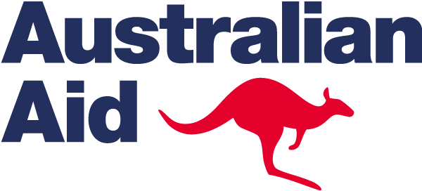 Australian Aid blue and red icon